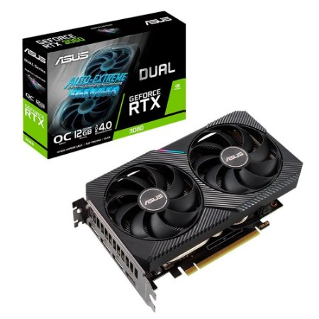 Placa De Vídeo Geforce Ddr6 12Gb/192 Bits Rtx 3060 Asus, Dual Oc Edition, Dual-Rtx3060-O12G