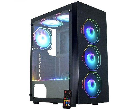 Pc Gamer Amd Ryzen 5600X, Gigabyte A520M H, Ssd M2 480Gb Kingston, Mem. 8Gb Hyperx, Kmex 02Z5, Fonte 750 Corsair, Gt1030