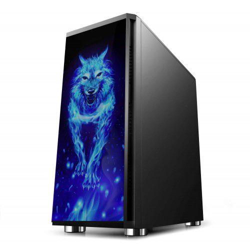 Pc Gamer Intel I3-10100F, Asus H410M-E, Ssd 480 Gb Wd, Mem. 8 Gb Hyperx, Bluecase Bg026, Fonte 550 Watts Corsair, Rx570
