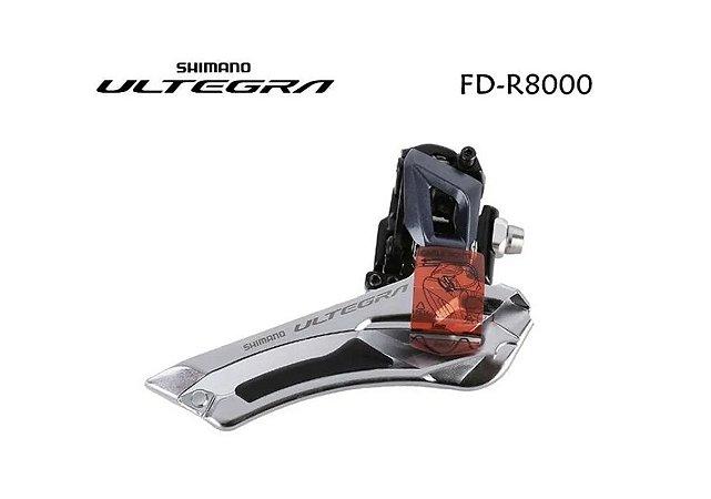 CAMBIO SHIMANO DIANTEIRO ULTEGRA FD-R8000 DUPLO BRAZED-ON - CROMADO