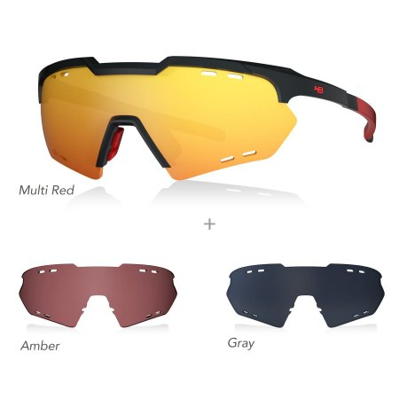Óculos De Sol HB KIT SHIELD COMPACT MOUNTAIN black/red