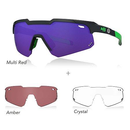 Óculos De Sol HB KIT SHIELD EVO ROAD black/green