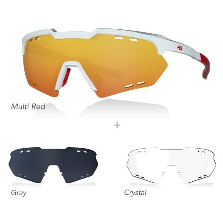 Óculos De Sol HB KIT SHIELD EVO ROAD white/red