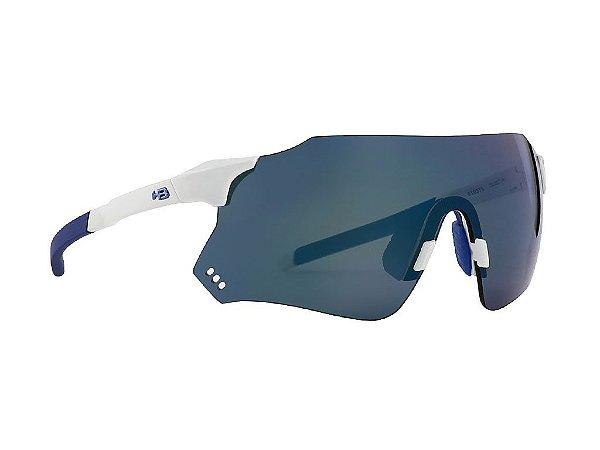 Óculos De Sol HB Quad X Pearled White Blue Chrome