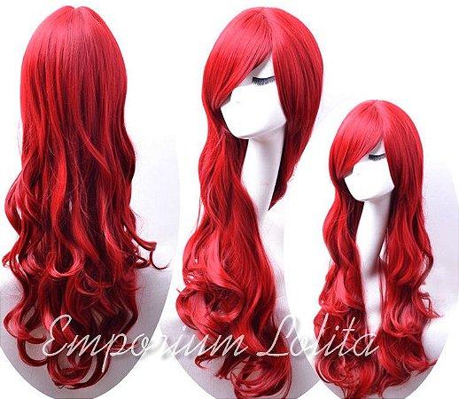 Peruca Vermelha Ariel 60cm