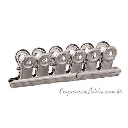 6 Presilhas metal P/ Curvatura C para Alongamento de Unhas P