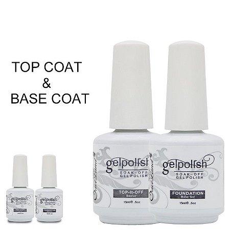 Kit Gelpolish Camada de Base & Top Coat
