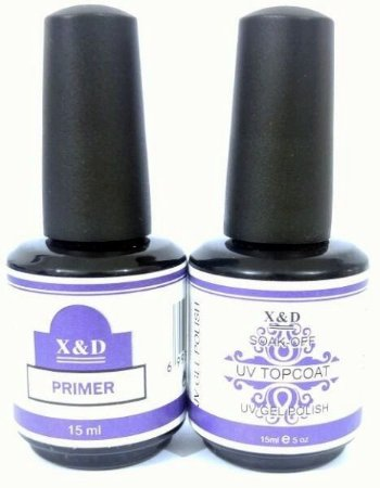 Kit Primer E Top Coat Uv X&d Unha X&D