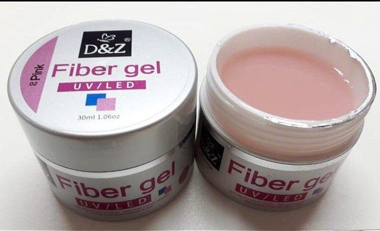 1 Gel D&Z Fiber 30g Pink Uv Led Fibras