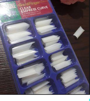 100 Tips Curvatura C Cx Azul Alongamento Unhas