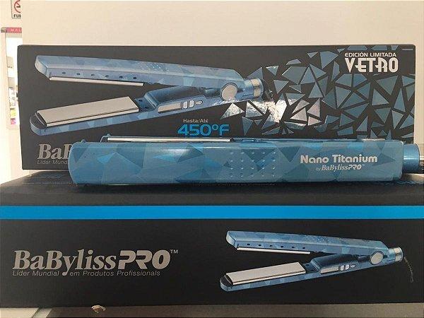 Nova Prancha Babyliss Vetro Nano Titanium 230º 110W