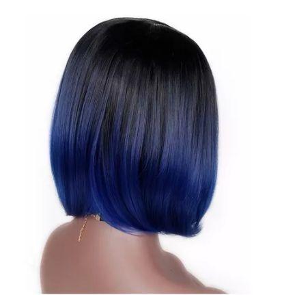 Peruca ombre azul Chanel