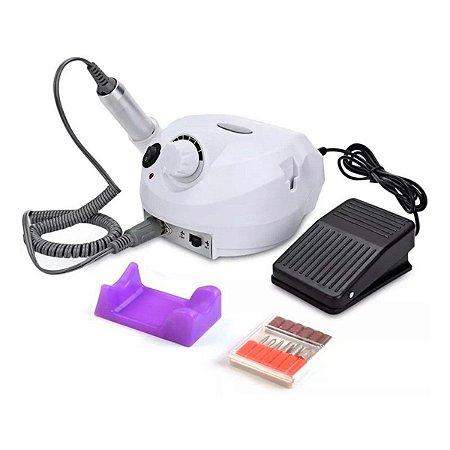 Lixadeira Elétrica De Unha Profissional 35000 Rpm Bivolt Branco