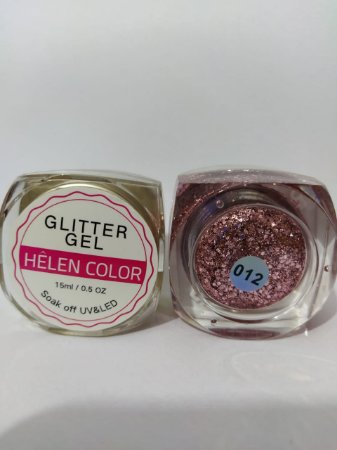 Gel Helen Color Glitter 15ml Encapsulada Rosa Claro