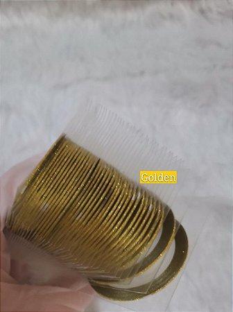 Fitilhos Finos Dourado Para Decoraçao De Unhas
