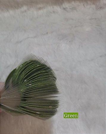 Fitilhos Finos Green Para Decoraçao De Unhas