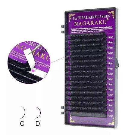 Cílios Nagaraku Premium Mink Curvatura D 14mm 0,07D