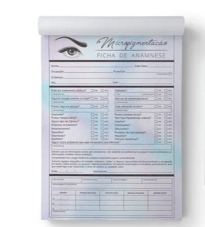 Ficha Anamnese  Micropigmentação