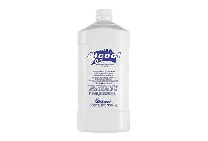 Álcool 70% Bactericida Antisséptico Quase 1 Litro