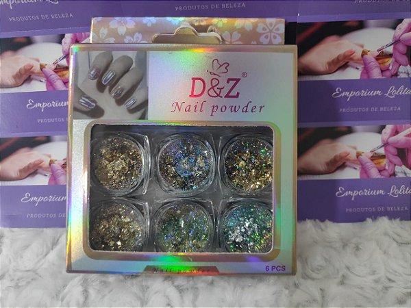 Kit Glitter Flocado P/ Encapsular  D&Z