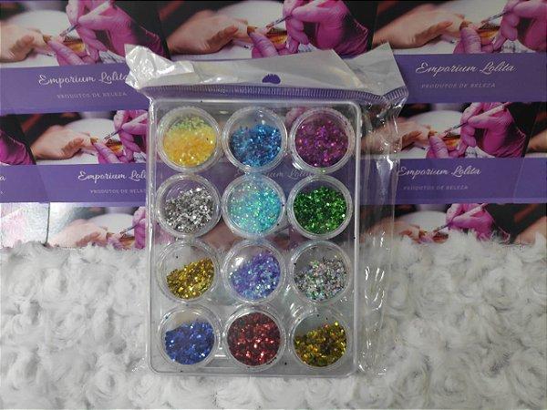 Kit Glitter Flocado P/ Encapsular Diversas Cores