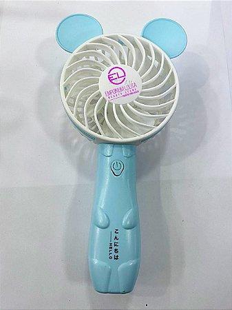 Ventilador Ursinho  Azul  Para Secagem Cilios