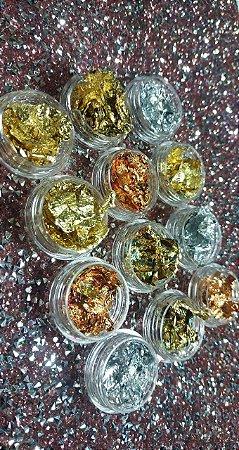 Kit 12 Decorações Fio de Ouro Prata/Dourado.
