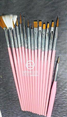 kit pinceis Para desenho Rosa