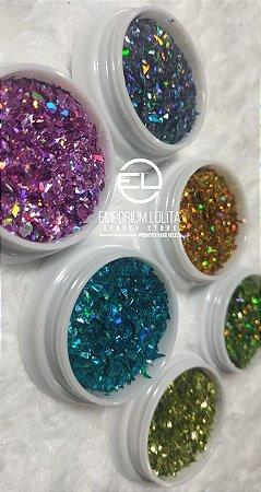 kit 6 Glitter Flocado para ENCAPSULAMENTO Coloridos