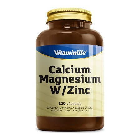 CALCIUM - MAGNESIUM W/ZINCO - 120 CAPS - VITAMINLIFE