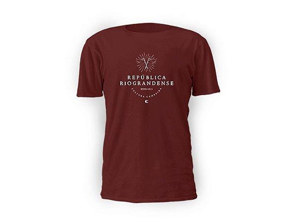 Camiseta bordô República