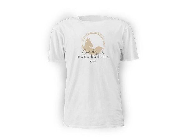 Camiseta branca Raça Gaúcha