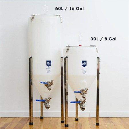 Fermentador Cônico Plastico 30 Litros Malt Mechanics Cerveja Chopp