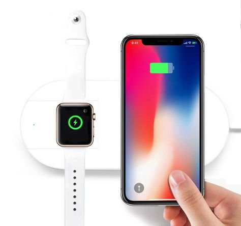 Carregador Sem Fio Qi Para Iphone E Apple Watch