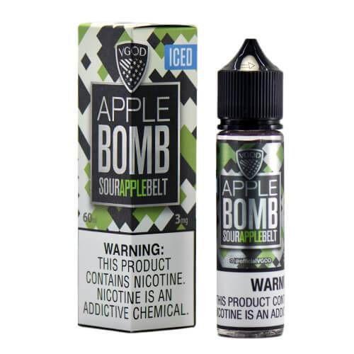 LÍQUIDO APPLE BOMB SOUR APPLE BELT ICED - VGOD PREMIUM