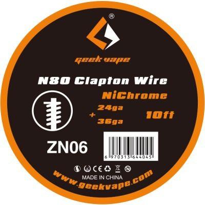 Coil - Geek Vape - N80 Fused Clapton - ZN 06
