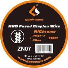 Fio N80 - Fused Clapton Wire ZN07- 3 Metros - GeekVape