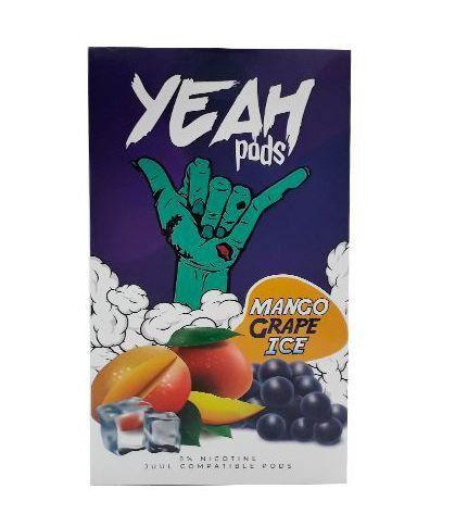 PODs c/ Líquido p/ JUUL - Mango Grape Ice - YEAH