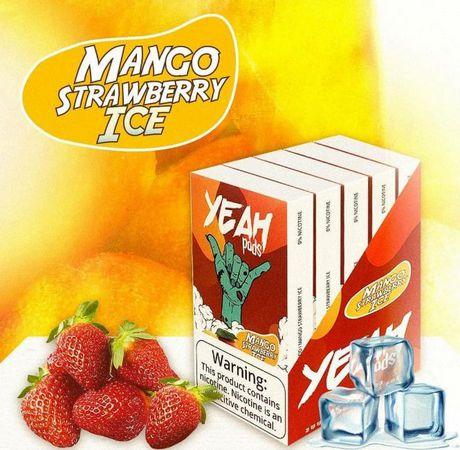 PODs c/ Líquido p/ JUUL - Mango Strawberry Ice - YEAH