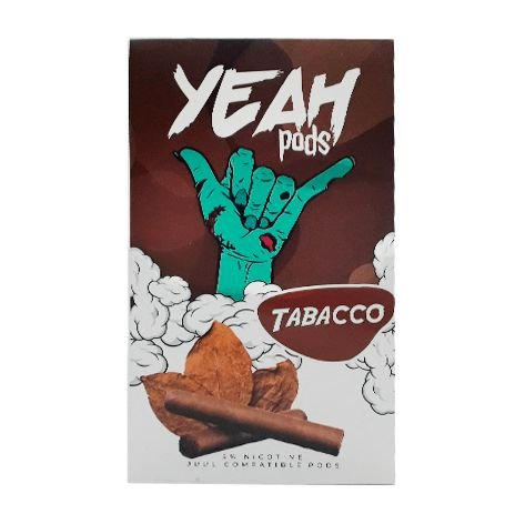 PODs c/ Líquido p/ JUUL - Tabacco - YEAH