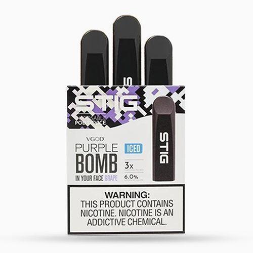 STIG POD DESCARTÁVEL PURPLE BOMB GRAPE - VGOD (Pack 3 unidades)