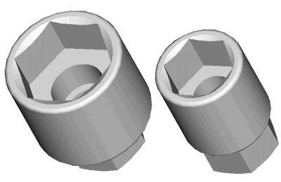Conjunto com 2 chaves, 22 e 30mm, para soltar as porcas doa amortecedores dianteiros e traseiros do Tempra. (RAVEN 143339)