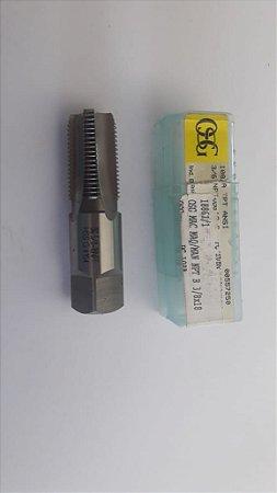 """Macho Manual NPT 3/8""""x18 p/tubo Aço Rápido 108A"""