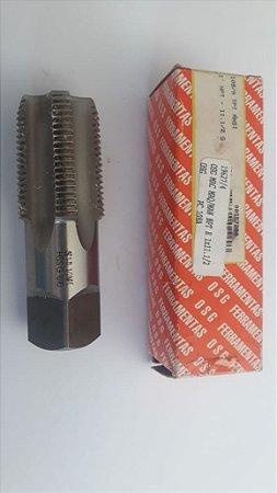 """Macho Manual NPT 1""""x11 p/tubo Aço Rápido 108A"""