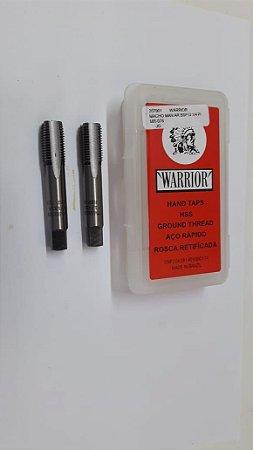 """Macho Manual BSP 1/4""""x19 p/tubo Aço Rápido c/ 2 peças"""