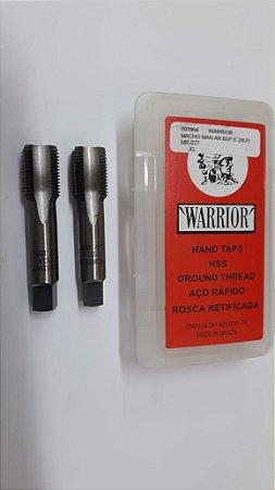 """Macho Manual BSP 3/8""""x19 p/tubo Aço Rápido c/ 2 peças"""