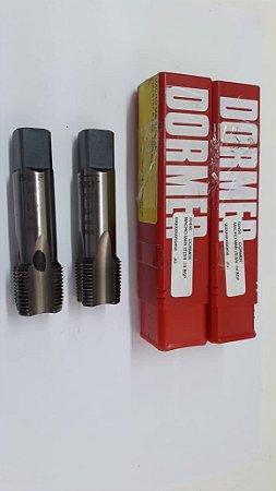"""Macho Manual BSP 3/4""""x14 p/tubo Aço Rápido E-150 c/ 2 peças"""