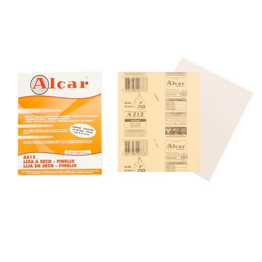 Lixa Branca Grão-150 FINELIX - Pct c/ 100
