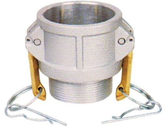 Acoplador Alumínio 1½x1½  fêmea/macho rosca externa