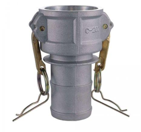 Acoplador Alumínio 2x2  fêmea/espigão